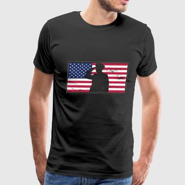Flag of America - Men's Premium T-Shirt