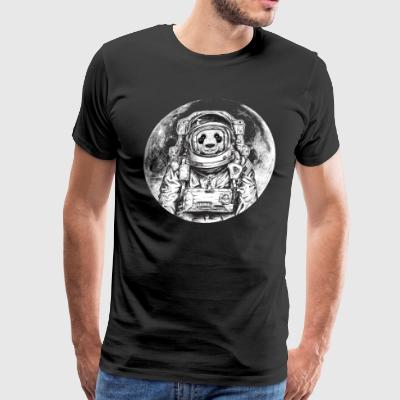 Panda Bear Astronaut Outer Space Moon Cool Design - Men's Premium T-Shirt
