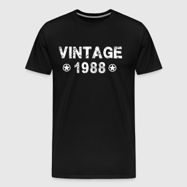 Vintage Born In 1988 30th Gift 30 Years Old 30th - Men's Premium T-Shirt