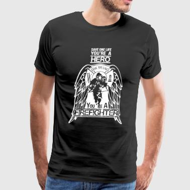 Hero Firefighter T Shirt - Men's Premium T-Shirt
