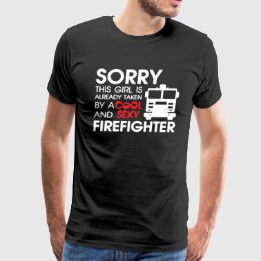 This Girl Is Cool Sexy Firefighter T Shirt - Men's Premium T-Shirt