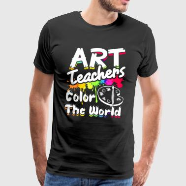 ART TEACHERS COLOR THE WORLD SHIRT - Men's Premium T-Shirt