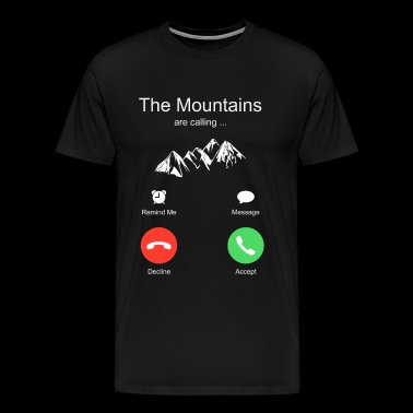 Mountains Ski Snowboard Vacation - Men's Premium T-Shirt