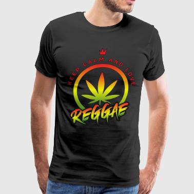 Keep Calm And Love Reggae - Men's Premium T-Shirt