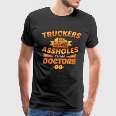 funny truck driver shirts Gift for Trucker - Men's Premium T-Shirt