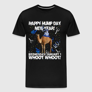Happy Hump Day New Year 2014 Party Camel T-shirt - Men's Premium T-Shirt