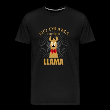 Llama red bow - Men's Premium T-Shirt