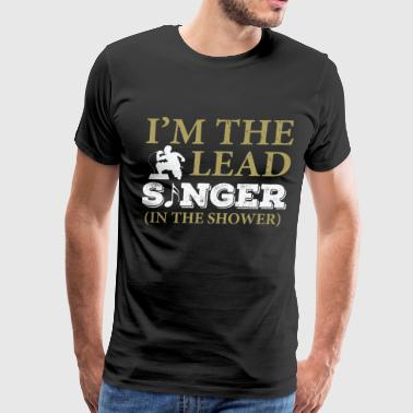 Music lead singer in the shower - Men's Premium T-Shirt