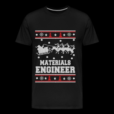 Materials engineer - Ugly Christmas Sweater - Men's Premium T-Shirt