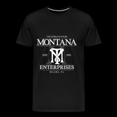 Montana Montana Montana the world is yours - Men's Premium T-Shirt