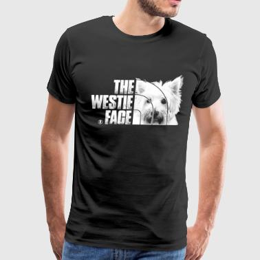 Westie dog lover - The Westie face - Men's Premium T-Shirt