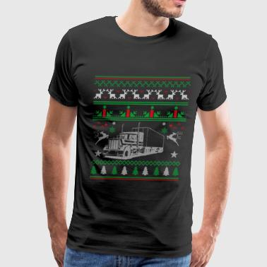 Truck Driver - Ugly Christmas Sweater for trucke - Men's Premium T-Shirt