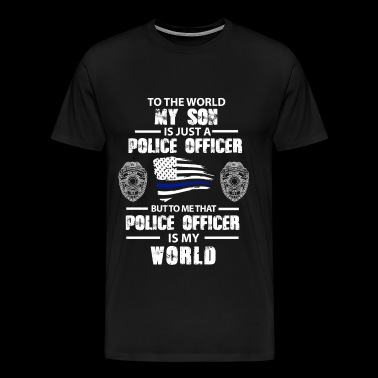 Police officer - My son is just a police officer - Men's Premium T-Shirt