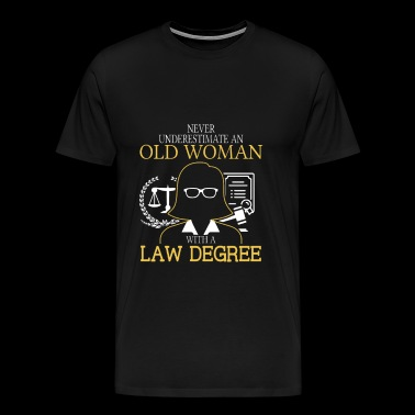 Law degree - Old woman with a law degree t-shirt - Men's Premium T-Shirt