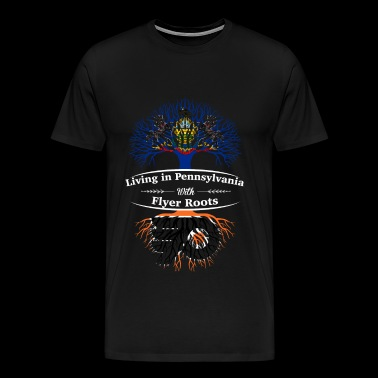 Flyer fans - Living in Pennsylvania awesome shir - Men's Premium T-Shirt