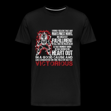 Vegeta - A man's greatest fulfillment awesome te - Men's Premium T-Shirt