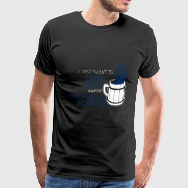 Indianapolis football - I just want to drink bee - Men's Premium T-Shirt
