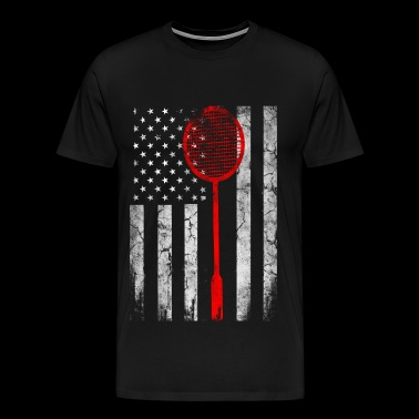 USA Badminton lovers - Badminton Flag - Men's Premium T-Shirt