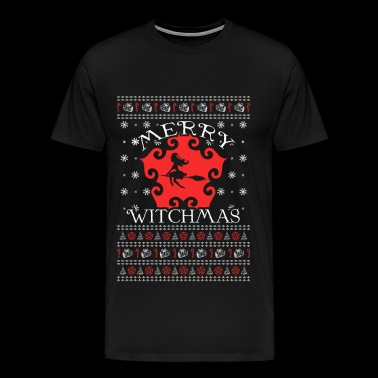 Witch - Ugly Christmas Sweater - Men's Premium T-Shirt