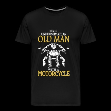 Motocycle - Motocycle - never underestimate an o - Men's Premium T-Shirt