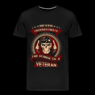 The power of a Army Veteran - Never underestimat - Men's Premium T-Shirt