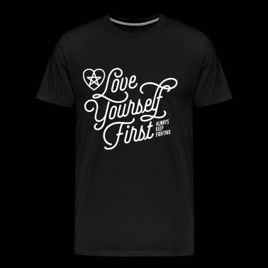 Jared Padalecki fan - Love yourself first - Men's Premium T-Shirt