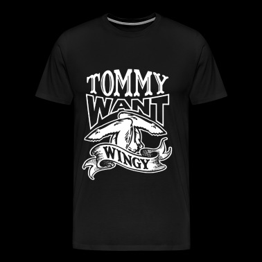 Chris Farley – Tommy want wingy - Men's Premium T-Shirt