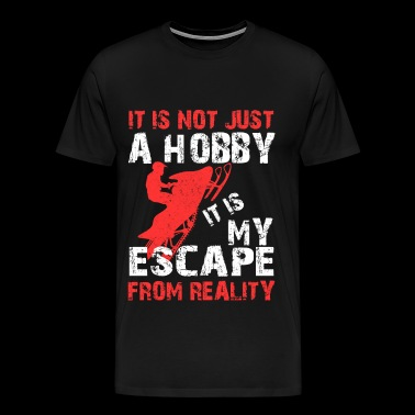 Skiing - Skiing - it is my escape from reality - Men's Premium T-Shirt