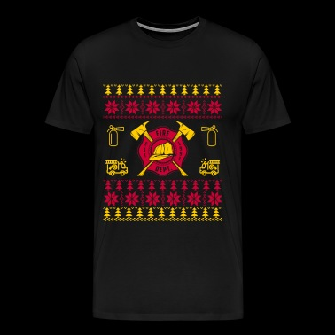 Firefighter - Christmas sweater for firefighter - Men's Premium T-Shirt