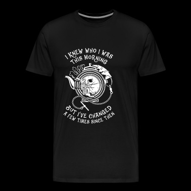 Wonderland - I knew who I was this morning - Men's Premium T-Shirt
