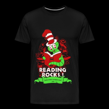 Reading rocks - Read across america day tee - Men's Premium T-Shirt