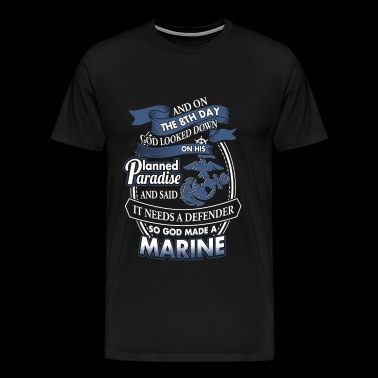 On the 8th day, God made a marine - Men's Premium T-Shirt