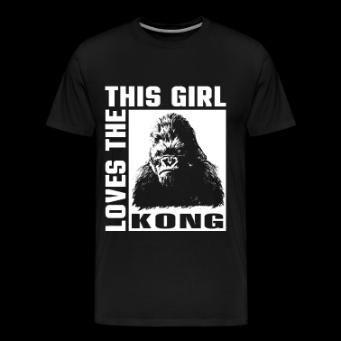 Kingkong - This girl love the Kong t-shirt for - Men's Premium T-Shirt