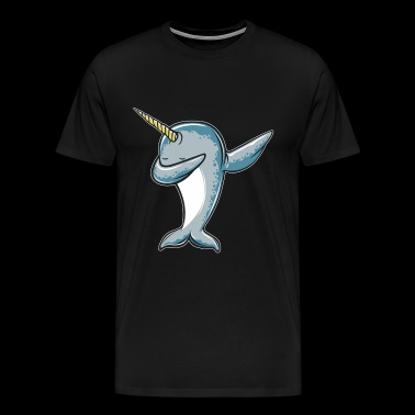 Funny Narwhal Dab - Dabbing Narwhal - Men's Premium T-Shirt