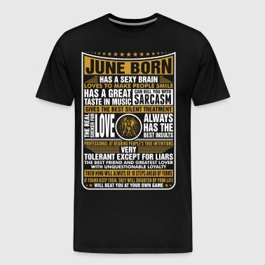 June Gemini Born - Men's Premium T-Shirt