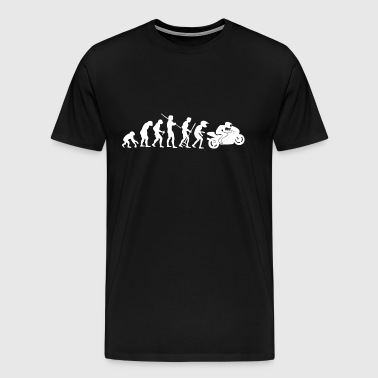 Motorcycle Rider Evolution Racing Supersport White - Men's Premium T-Shirt