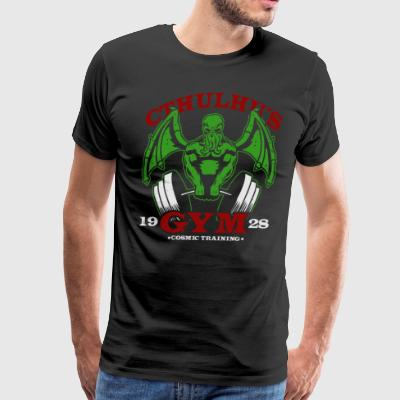 Devil Cthulhu Gym Cyber System - Men's Premium T-Shirt