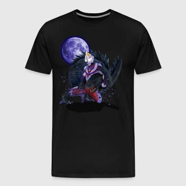 Tiga Warrior vs Giant Monster TSHIRT - Men's Premium T-Shirt