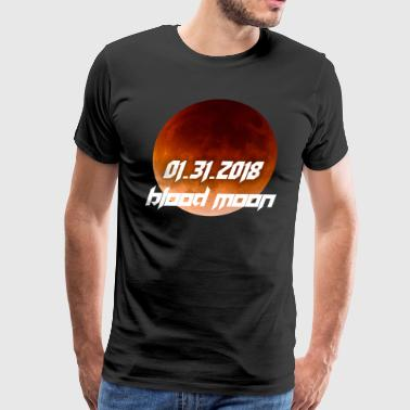 Total Lunar Eclipse Blood Moon January 2018 - Men's Premium T-Shirt