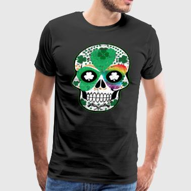 Irish Gay Pride Rainbow Skull - Men's Premium T-Shirt