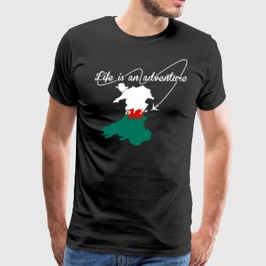 Welsh Life Is An Adventure - Men's Premium T-Shirt
