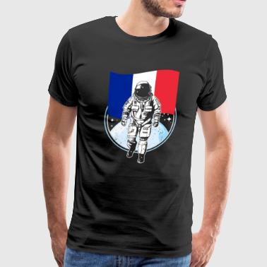 Astronaut moon France - Men's Premium T-Shirt