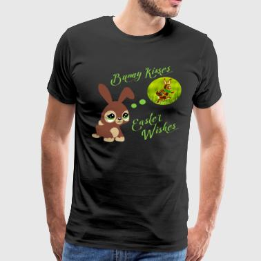 Happy Easter Bunny Kisses & Wishes Shirt Gift - Men's Premium T-Shirt