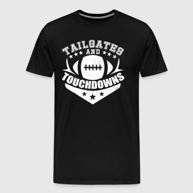 Tailgates And Touchdowns | Vintage Football - Men's Premium T-Shirt