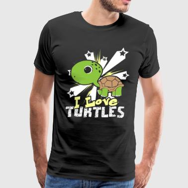 I LOVE TURTLES SHIRT - Men's Premium T-Shirt