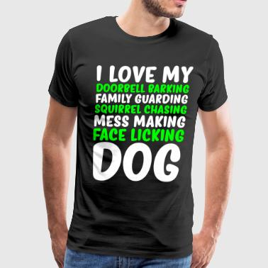 I Love My Dog Cool Funny Dogs T-shirt - Men's Premium T-Shirt