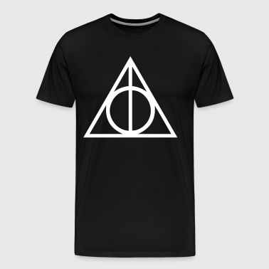 Deathly Hallows Triangle - Men's Premium T-Shirt