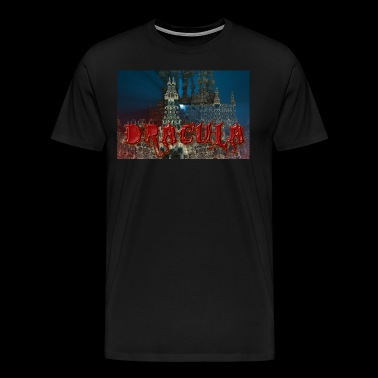 Dracula's Castle at Night with Moon Beam - Men's Premium T-Shirt