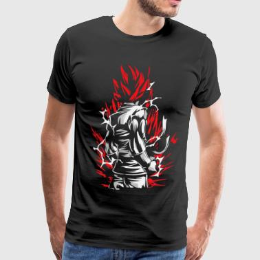 Goku Silluette - Dragon Ball - Men's Premium T-Shirt