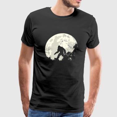 Bigfoot Sasquatch Moon - Men's Premium T-Shirt